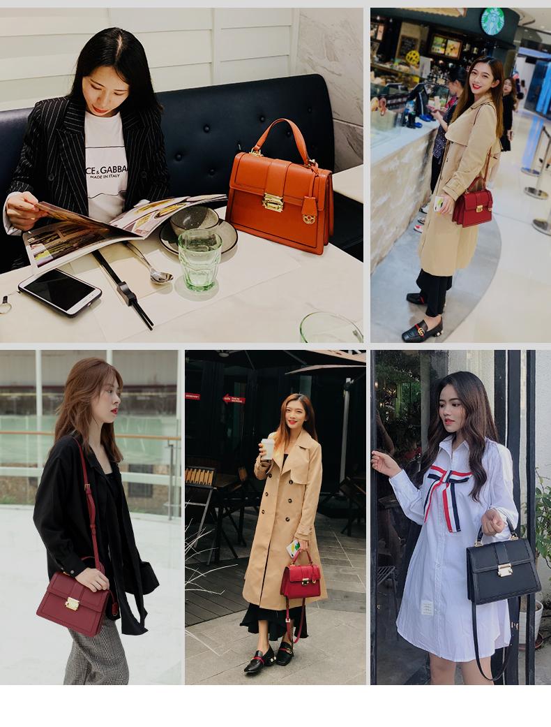 【下单赠丝巾】拉菲斯汀时尚气质百搭凯莉手提女包