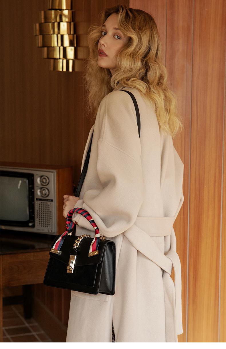 【下单赠丝巾】拉菲斯汀时尚单肩斜挎新娘包手提凯莉包